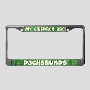 My Children Dachshund License Plate Frame
