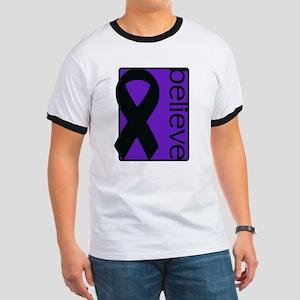 Purple (Believe) Ribbon Ringer T