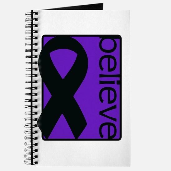 Purple (Believe) Ribbon Journal
