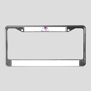 I Love Ron Paul License Plate Frame