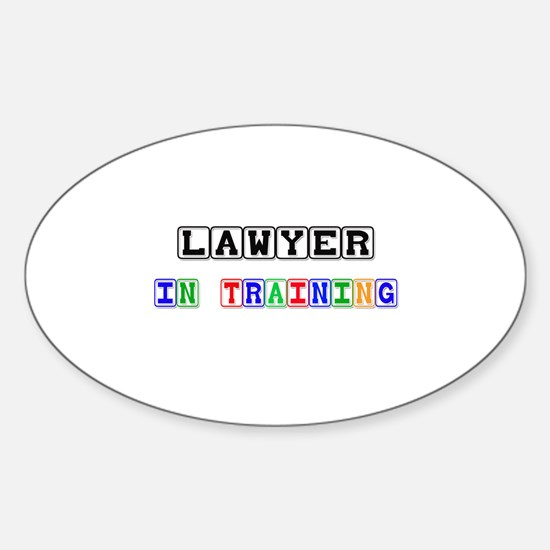 Lawyer In Training Oval Decal