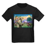 St Francis Doxie Kids Dark T-Shirt