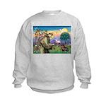 St Francis Doxie Kids Sweatshirt