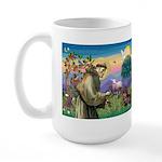 St Francis Doxie Large Mug