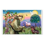 St Francis Doxie Rectangle Sticker