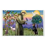 St. Francis Dobie Rectangle Sticker