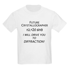 Future crystallographer Kids T-Shirt