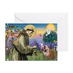 St. Francis & English Bulldog Greeting Card