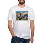St. Francis & English Bulldog Fitted T-Shirt