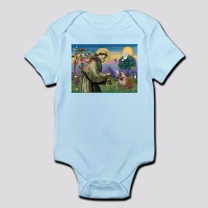 St. Francis & English Bulldog Infant Bodysuit