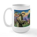 St. Francis & English Bulldog Large Mug