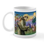 St. Francis & English Bulldog Mug