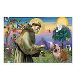 St. Francis & English Bulldog Postcards (Package o