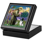 St Francis & English Springer Keepsake Box