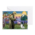 St Francis & English Springer Greeting Cards (Pk o
