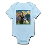 St Francis & English Springer Infant Bodysuit