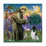 St Francis & English Springer Tile Coaster
