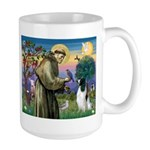 St Francis & English Springer Large Mug