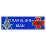 Masonic Traveling Man 32 Bumper Sticker