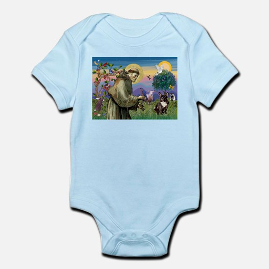 St. Francis Brindle Frenchie Infant Bodysuit