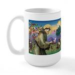 St. Francis Brindle Frenchie Large Mug