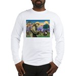 St. Francis Brindle Frenchie Long Sleeve T-Shirt