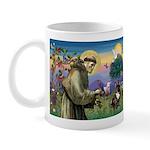 St. Francis Brindle Frenchie Mug