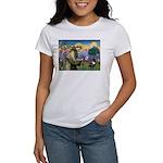 St. Francis Brindle Frenchie Women's T-Shirt