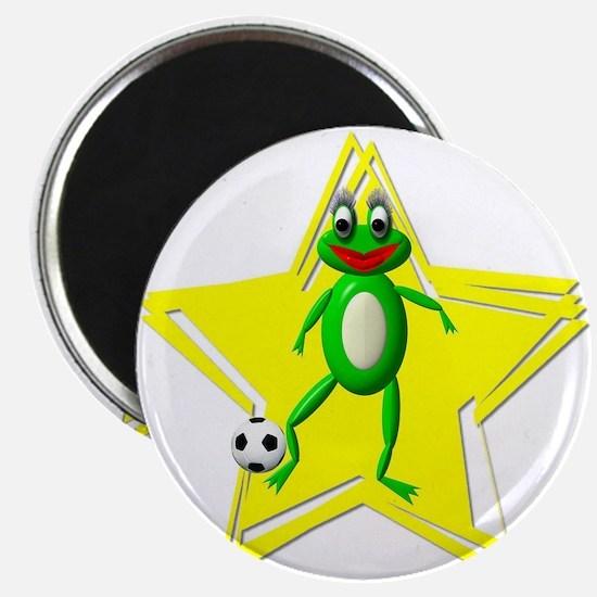 """Girls Soccer Ms Frog 2.25"""" Magnet (10 pack)"""