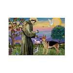 St Francis / G Shep Rectangle Magnet (10 pack)