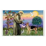 St Francis / G Shep Rectangle Sticker