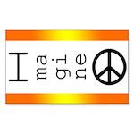 Imagine Peace Rectangle Sticker 50 pk)