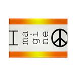 Imagine Peace Rectangle Magnet (10 pack)