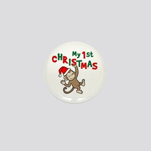 My First Christmas - Monkey Mini Button