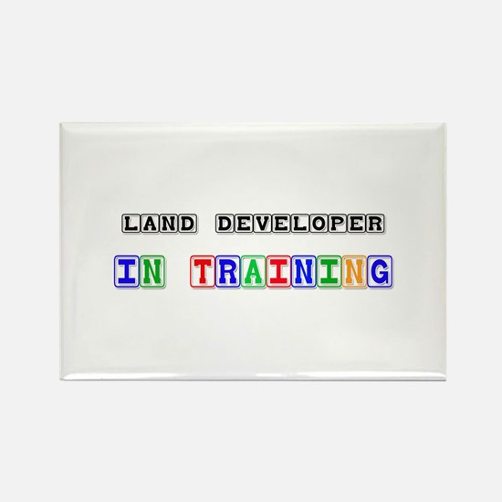 Land Developer In Training Rectangle Magnet (10 pa