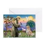 St Francis Golden Greeting Card