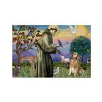 St Francis Golden Rectangle Magnet (100 pack)