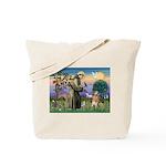 St Francis Golden Tote Bag