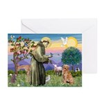 Saint Francis' Golden Greeting Cards (Pk of 10)