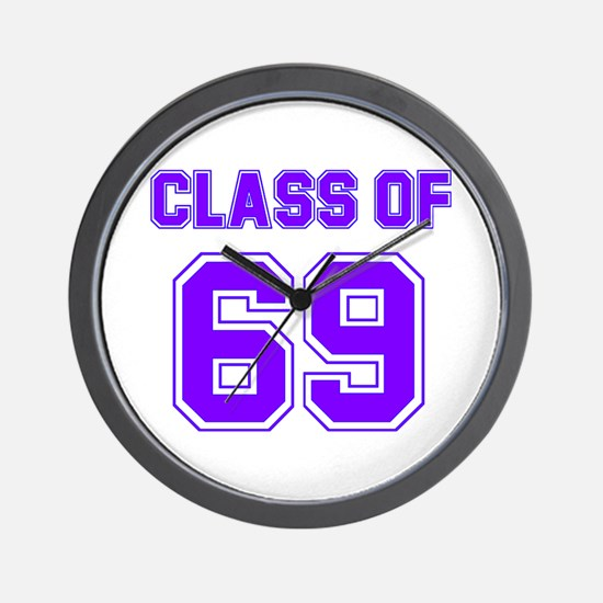 Groovy Class of 69 Wall Clock