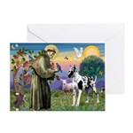 St. Francis & Great Dane Greeting Card