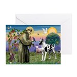 St. Francis & Great Dane Greeting Cards (Pk of 10)
