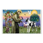 St. Francis & Great Dane Rectangle Sticker