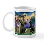 St Francis / Black G-Dane (N) Mug