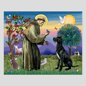 St Francis / Black G-Dane (N) Small Poster
