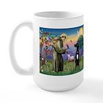 St Francis / Black G-Dane (N) Large Mug