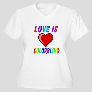 love colorblind Plus Size V-Neck T-Shirt