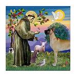 Saint Francis' Great Dane Tile Coaster