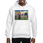 Saint Francis' Great Dane Hooded Sweatshirt