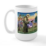 Saint Francis' Great Dane Large Mug